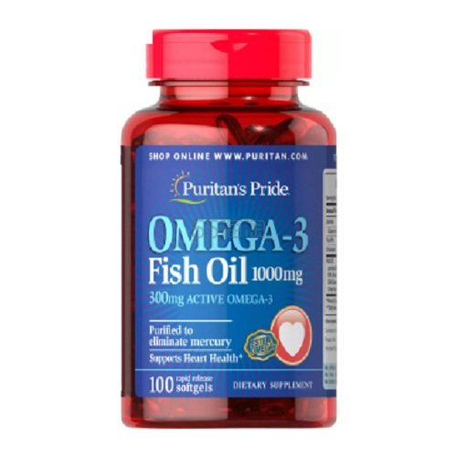 Puritans Pride 普麗普萊 Omega-3魚油 1000mg 100粒 .65(約18元) - 海淘優惠海淘折扣|55海淘網