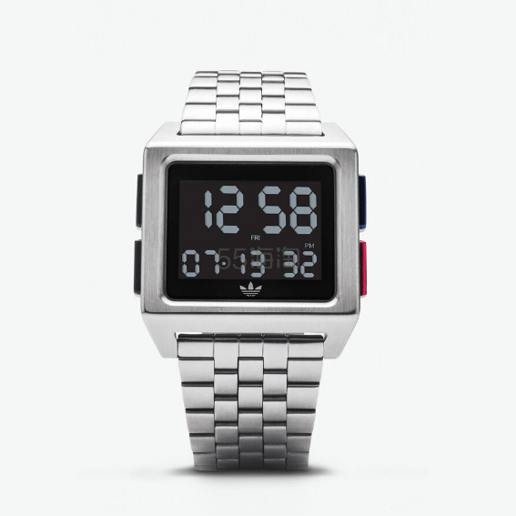 adidas 阿迪达斯 Watches Silver Archive M1 金属表带电子表 0(约904元) - 海淘优惠海淘折扣|55海淘网