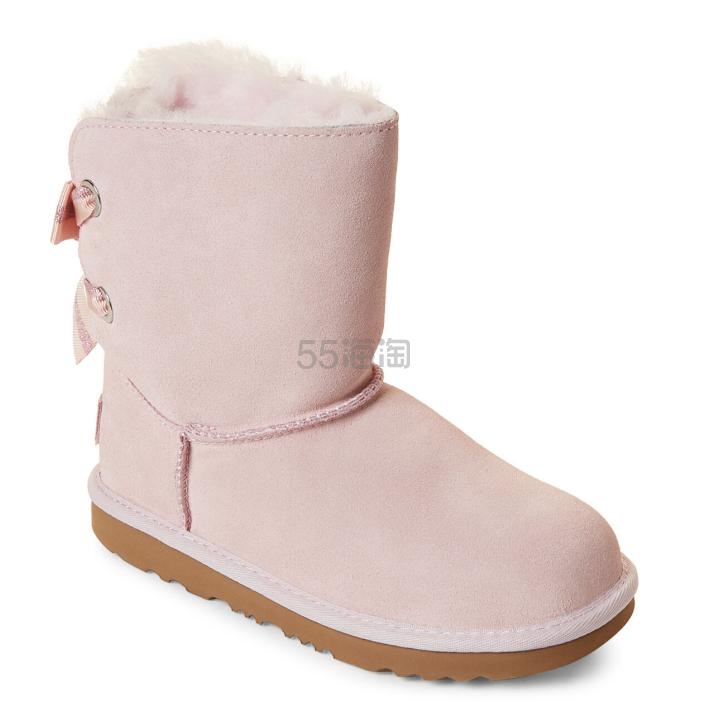 UGG Bailey Bow II Real Fur 女童蝴蝶结雪地靴 .99(约695元) - 海淘优惠海淘折扣|55海淘网
