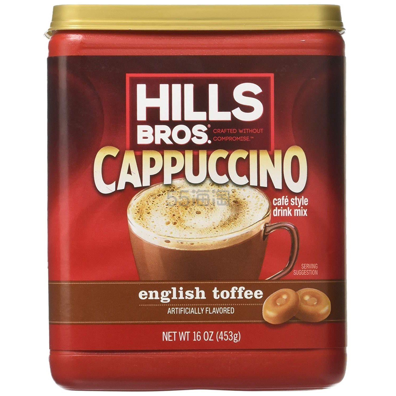 【中亚Prime会员】Hills Bros 希尔兄弟 卡布奇诺速溶咖啡 453g 英式太妃糖味 到手价42元 - 海淘优惠海淘折扣 55海淘网