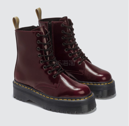 DR. MARTENS Vegan Jadon II 红棕色厚底马丁靴 3.5(约997元) - 海淘优惠海淘折扣|55海淘网