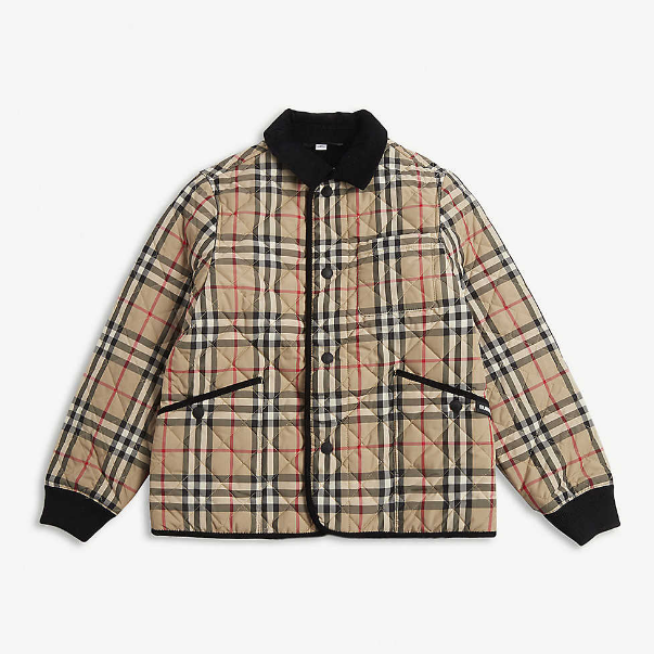 Burberry Culford vintage check coat 4-14岁夹棉外套