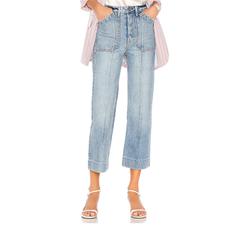 GRLFRND 中线复古直筒牛仔裤