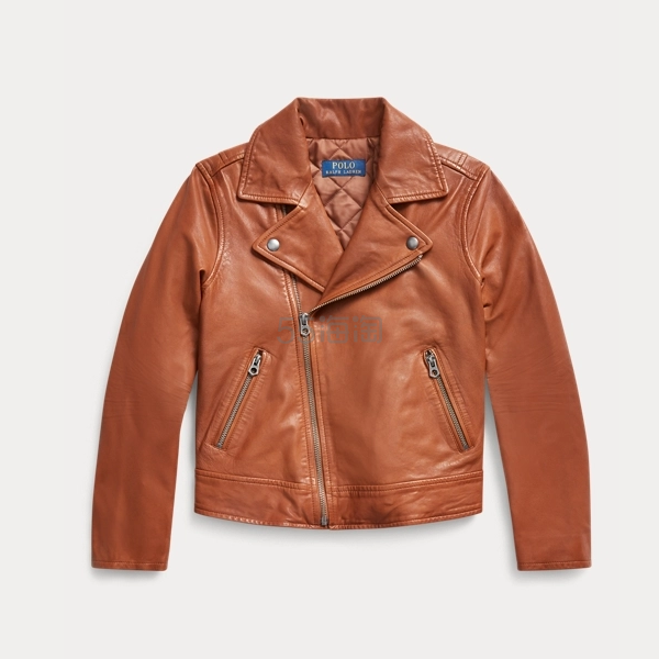 Ralph Lauren 拉夫劳伦 Leather Moto Jacket 7-16岁皮衣 1.49(约914元) - 海淘优惠海淘折扣 55海淘网