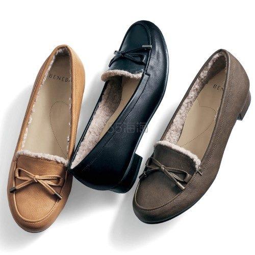 BENEBIS 日系棉花糖柔软加绒皮鞋 3色码全 6,990日元(约452元) - 海淘优惠海淘折扣 55海淘网