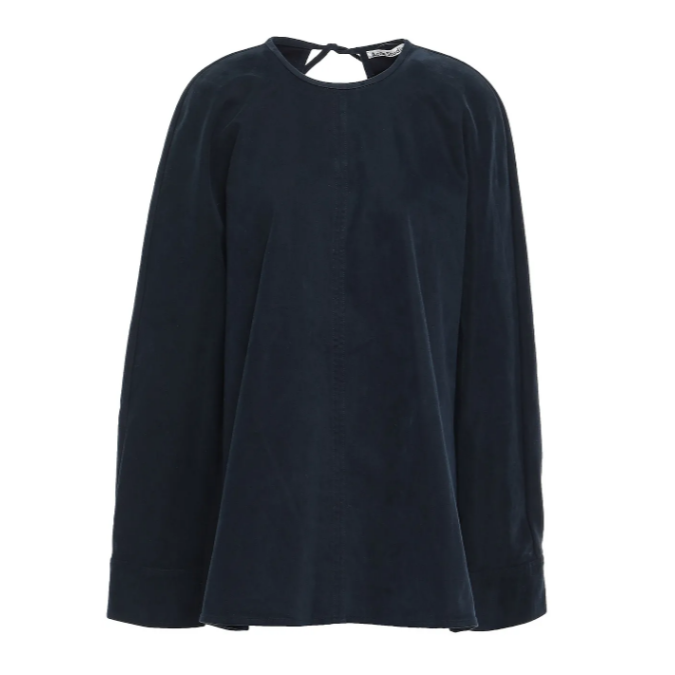 Acne Studios Cotton-blend sateen tunic 长袖T恤