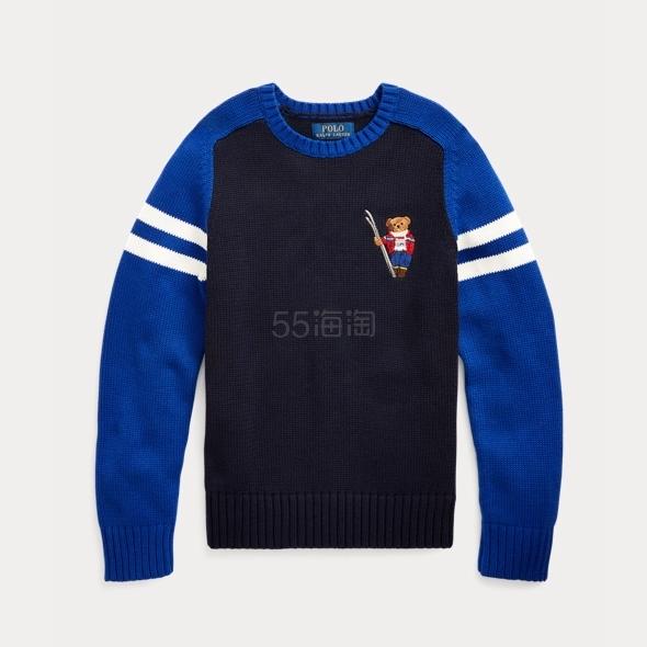 需凑单!Ralph Lauren 拉夫劳伦 Ski Bear Cotton Sweater 8-20岁针织衫 .87(约299元) - 海淘优惠海淘折扣|55海淘网