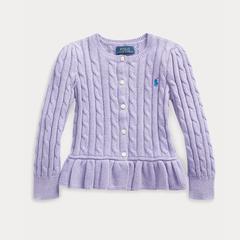 需凑单!Ralph Lauren 拉夫劳伦 Cable Cotton Peplum 2-6岁小童针织开衫