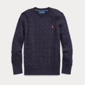 需凑单!Ralph Lauren 拉夫劳伦 Cable-Knit Cotton Sweater 8-20岁毛衣