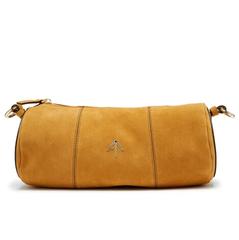 MANU ATELIER Cylinder 黄色麂皮圆筒包