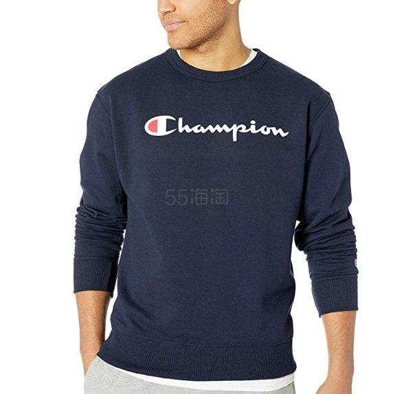 【已结束】满¥303减¥30!【中亚Prime会员】Champion Powerblend 大 logo 圆领毛绒套头卫衣