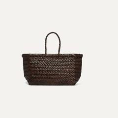 DRAGON DIFFUSION Bamboo 编织皮革小号手提包