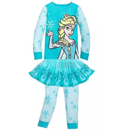 Disney 迪士尼 冰雪奇缘 艾莎女孩睡衣套装 (约139元) - 海淘优惠海淘折扣|55海淘网