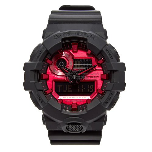 CASIO G-SHOCK GA-700AR 黑红配色手表 £95.2(约862元) - 海淘优惠海淘折扣 55海淘网