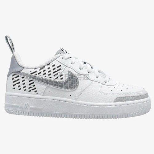 【阶梯满减】Nike 耐克 Air Force 1 Low 大童款板鞋 白灰
