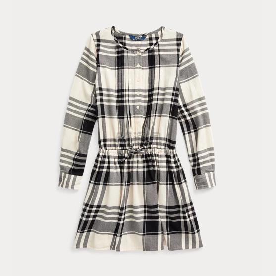 【2019黑五】Ralph Lauren 拉夫劳伦 Plaid Cotton Poplin Shirtdress 7-16岁格纹连衣裙 .99(约188元) - 海淘优惠海淘折扣|55海淘网