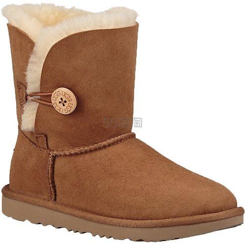 【1件9折】UGG Bailey Button II 儿童纽扣雪地靴 6.95(约804元) - 海淘优惠海淘折扣|55海淘网