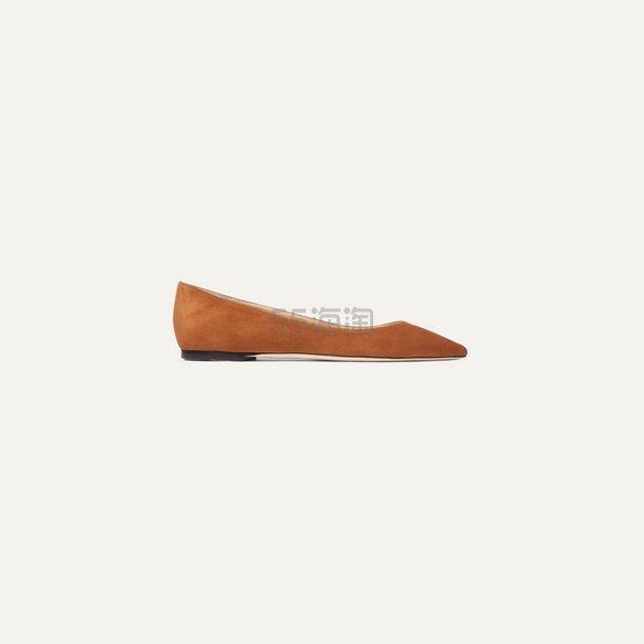 JIMMY CHOO Romy 绒面革尖头平底鞋 £297.5(约2,700元) - 海淘优惠海淘折扣 55海淘网