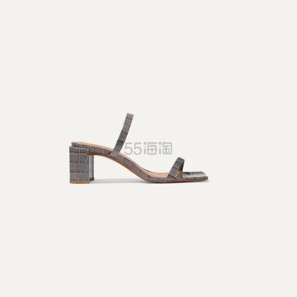 BY FAR Tanya 仿鳄鱼纹皮革穆勒鞋 £213.5(约1,938元) - 海淘优惠海淘折扣|55海淘网