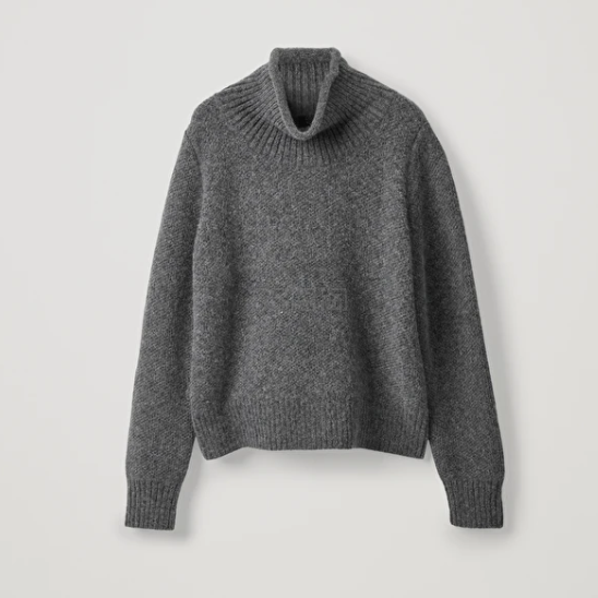 COS 灰色高领毛衣 £71(约644元) - 海淘优惠海淘折扣|55海淘网