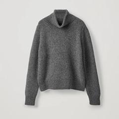 COS 灰色高领毛衣