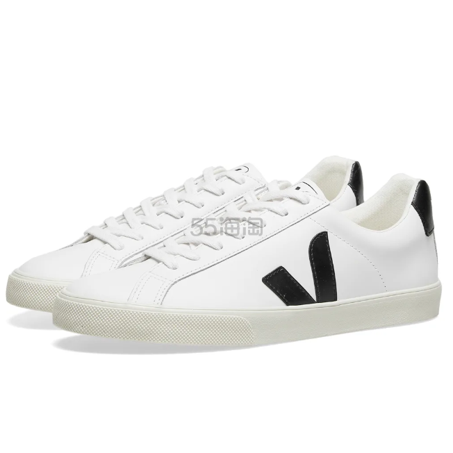 VEJA V-10 Youth 纯素皮革运动鞋 £71.2(约646元) - 海淘优惠海淘折扣|55海淘网