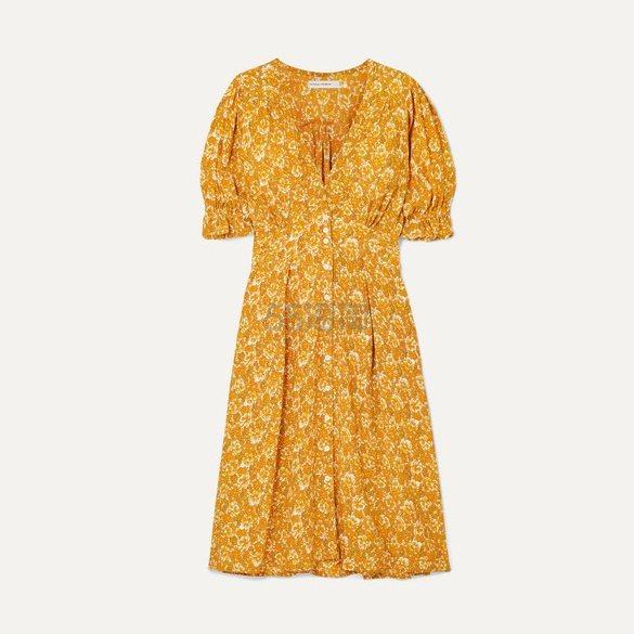 FAITHFULL THE BRAND Rafa 花卉印花中长连衣裙 £122.21(约1,109元) - 海淘优惠海淘折扣|55海淘网