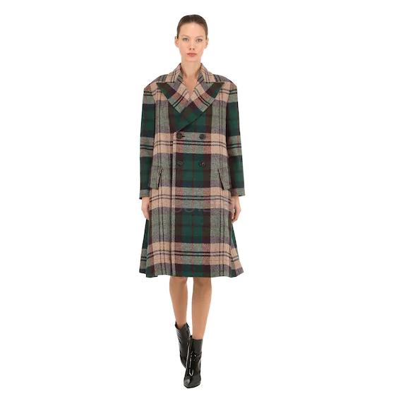 VIVIENNE WESTWOOD 新羊毛格纹大衣 ,232(约8,575元) - 海淘优惠海淘折扣|55海淘网