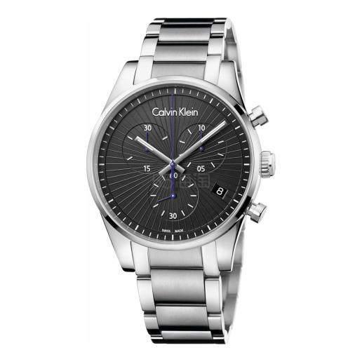 Calvin Klein 卡尔文·克莱因 Steadfast 系列 银黑色男士气质腕表 K8S27141 (约550元) - 海淘优惠海淘折扣 55海淘网