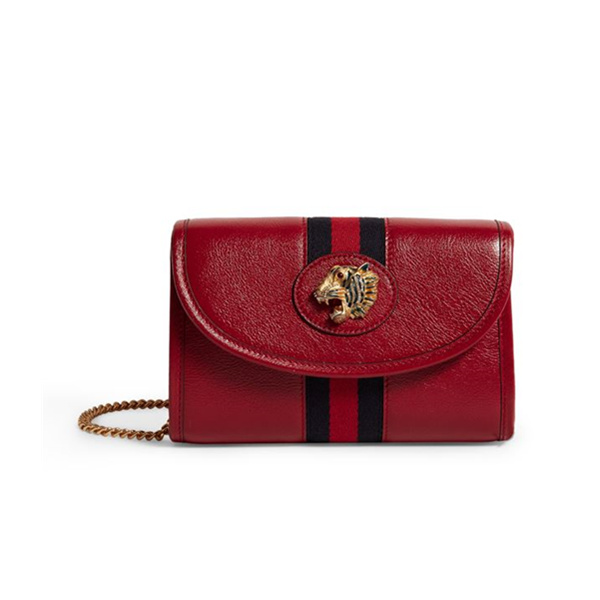 Gucci Leather Rajah Mini 新季新款单肩包