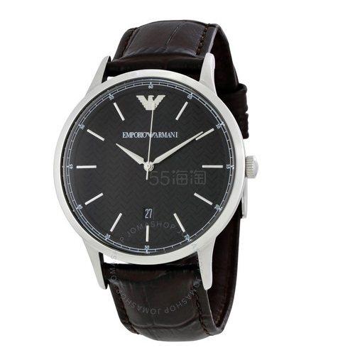 【55专享】Emporio Armani 安普里奥·阿玛尼 Dress 系列 黑色男士气质腕表 AR2480