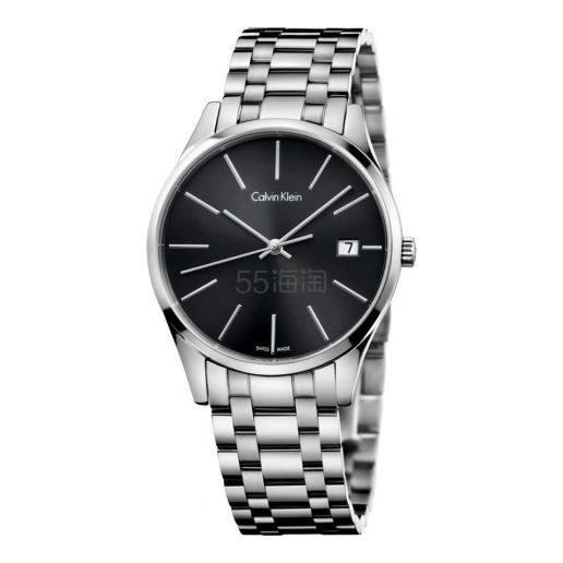 近期低价!Calvin Klein 卡尔文·克雷恩 Time 系列 银黑色男士时装腕表 K4N23141 (约383元) - 海淘优惠海淘折扣|55海淘网