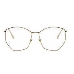 Dior ' DiorStellaire04' 金边不规则眼镜