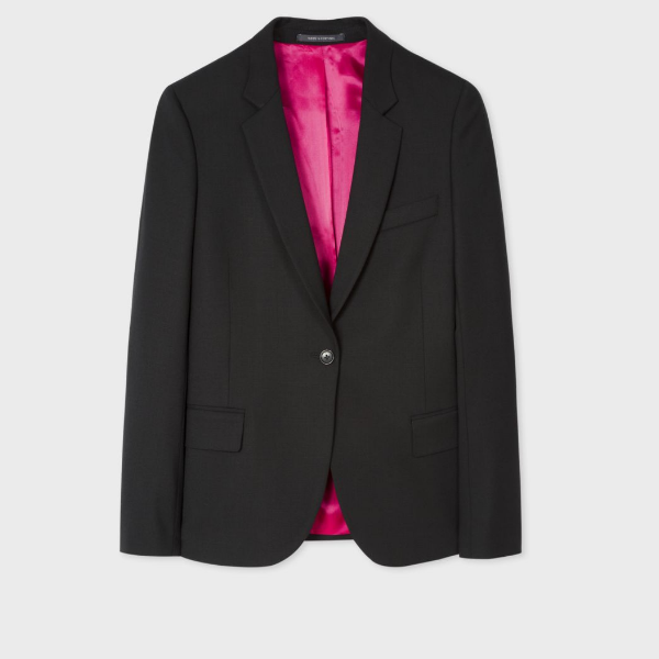 Paul Smith Black Wool-Hopsack Blazer 羊毛西装
