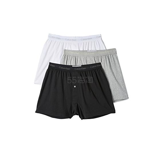 Calvin Klein Underwear 棉质经典3件装平角短裤 .65(约193元) - 海淘优惠海淘折扣|55海淘网