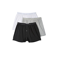 Calvin Klein Underwear 棉质经典3件装平角短裤