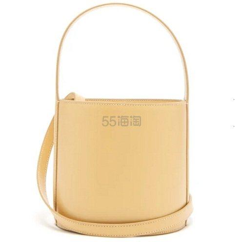 STAUD Moreau 黄色真皮水桶包 €166(约1,299元) - 海淘优惠海淘折扣|55海淘网
