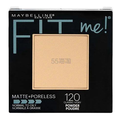 多色可选!Maybelline 美宝莲 Fit Me 哑光雾面粉饼 .45(约38元) - 海淘优惠海淘折扣|55海淘网