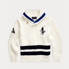 Ralph Lauren 拉夫劳伦 Big Pony Cotton Shawl Sweater 2-7岁针织衫