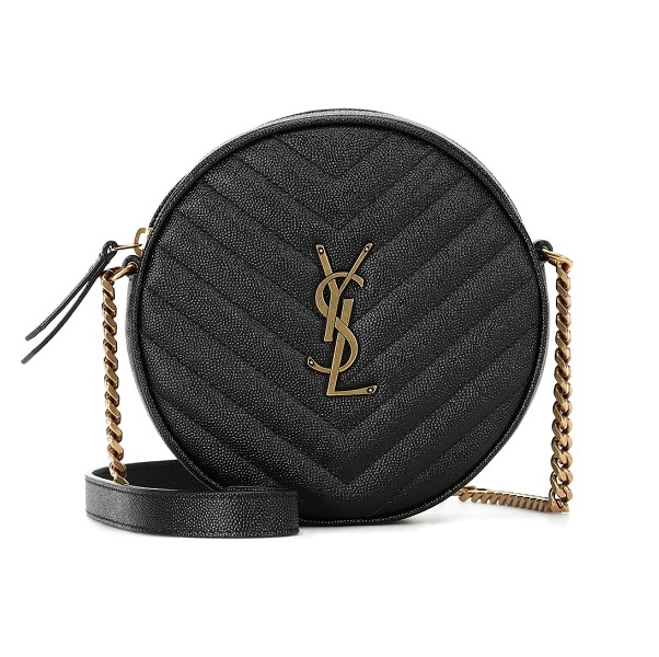SAINT LAURENT Monogram 黑色圆形包包