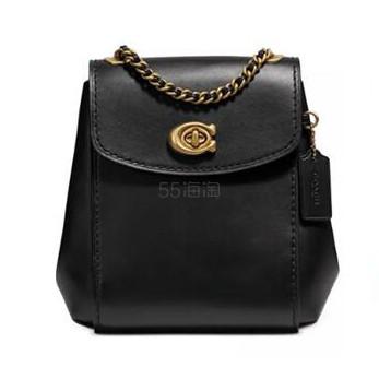 Coach 蔻驰 Leather Parker 黑色双肩斜挎包 6.5(约1,438元) - 海淘优惠海淘折扣|55海淘网