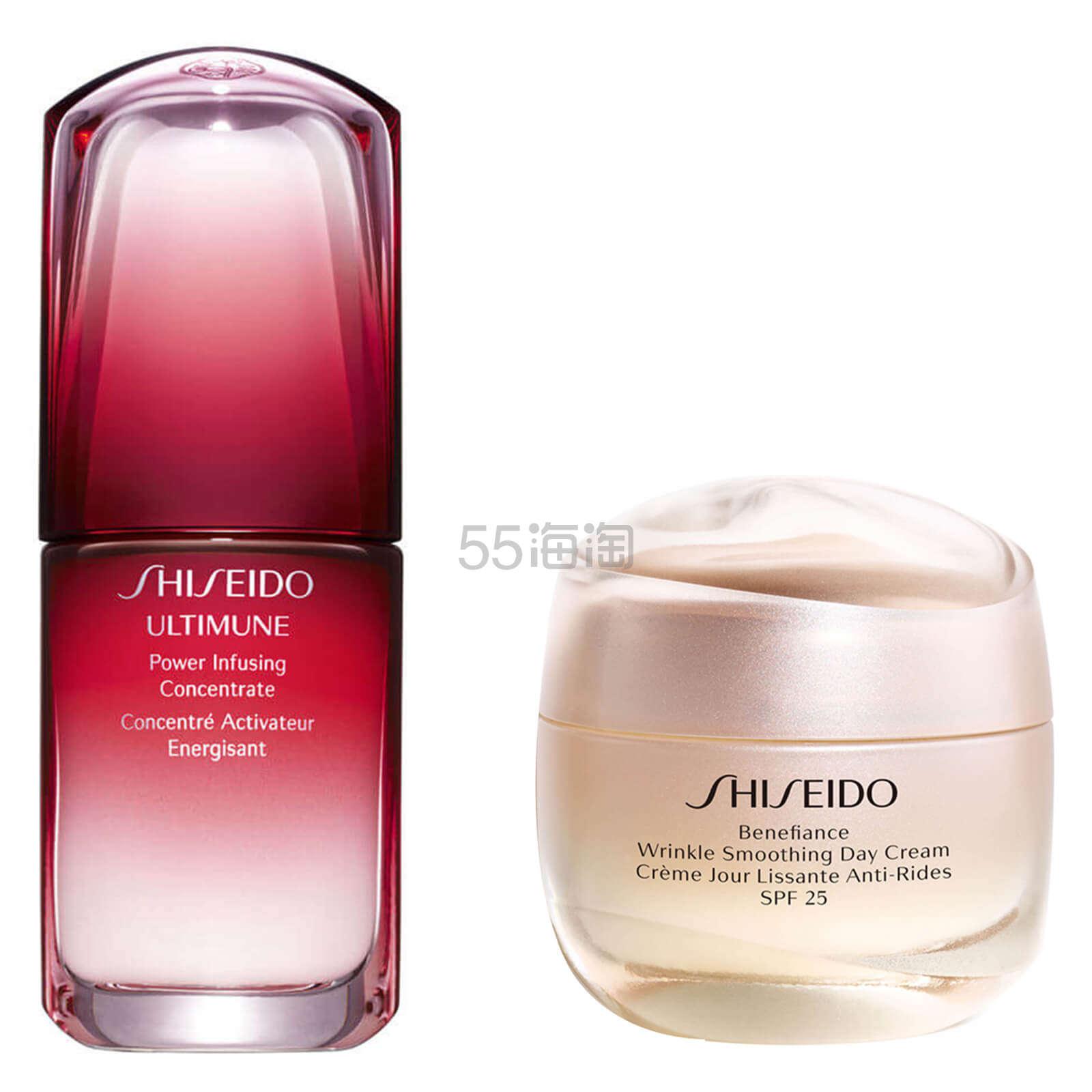 【1套免费直邮】7.2折+赠礼!Shiseido 资生堂 红腰子精华 30ml + 盼丽风姿日霜50ml ¥931.2 - 海淘优惠海淘折扣|55海淘网