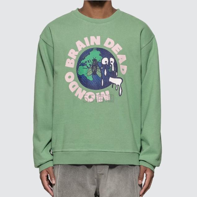 BRAIN DEAD 绿色卫衣 (约683元) - 海淘优惠海淘折扣|55海淘网
