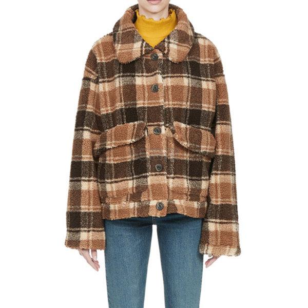 AS KNOW AS PINKY 格纹羊羔绒夹克外套 ¥779.4 - 海淘优惠海淘折扣 55海淘网