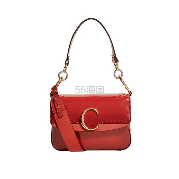 Chloé Small Patent Chloé C 单肩包 ,105.17(约7,697元) - 海淘优惠海淘折扣|55海淘网