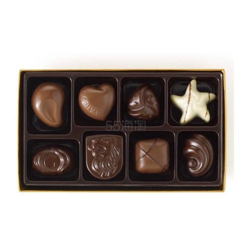 Godiva 歌帝梵 什锦巧克力礼品盒 8颗 .96(约104元) - 海淘优惠海淘折扣|55海淘网