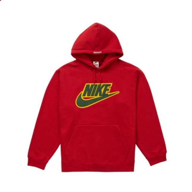 Supreme Nike Leather Applique 联名连帽卫衣
