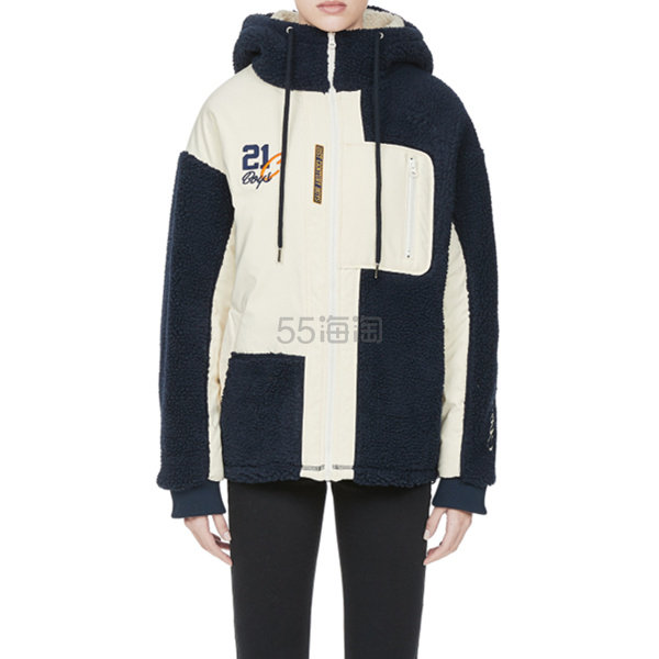 ROMANTIC CROWN 韩国潮牌羊羔毛拼接夹克外套 ¥1,319.4 - 海淘优惠海淘折扣 55海淘网
