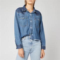 Levi's 李维斯 Mirella 女士短款牛仔衬衫夹克