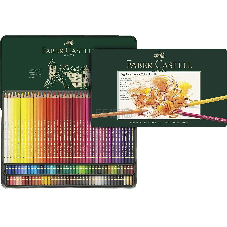 【中亚Prime会员】Faber Castell 辉柏嘉 110011 炫彩彩色铅笔 120色 金属盒装 到手价1093元 - 海淘优惠海淘折扣 55海淘网